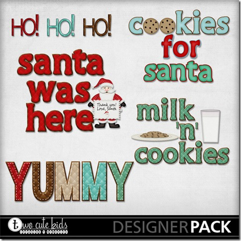 Cookies for Santa Word Art 1