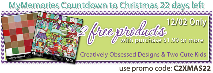 Countdown to Christmas Freebie with $1.99purchase